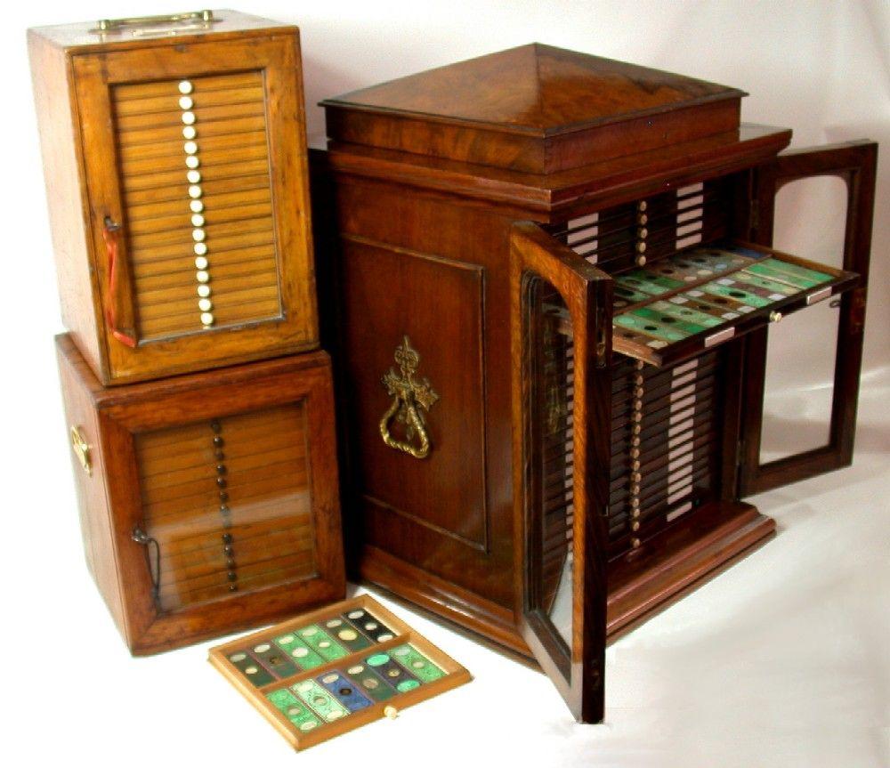Antique Victorian Microscope Slides Slide Accessories